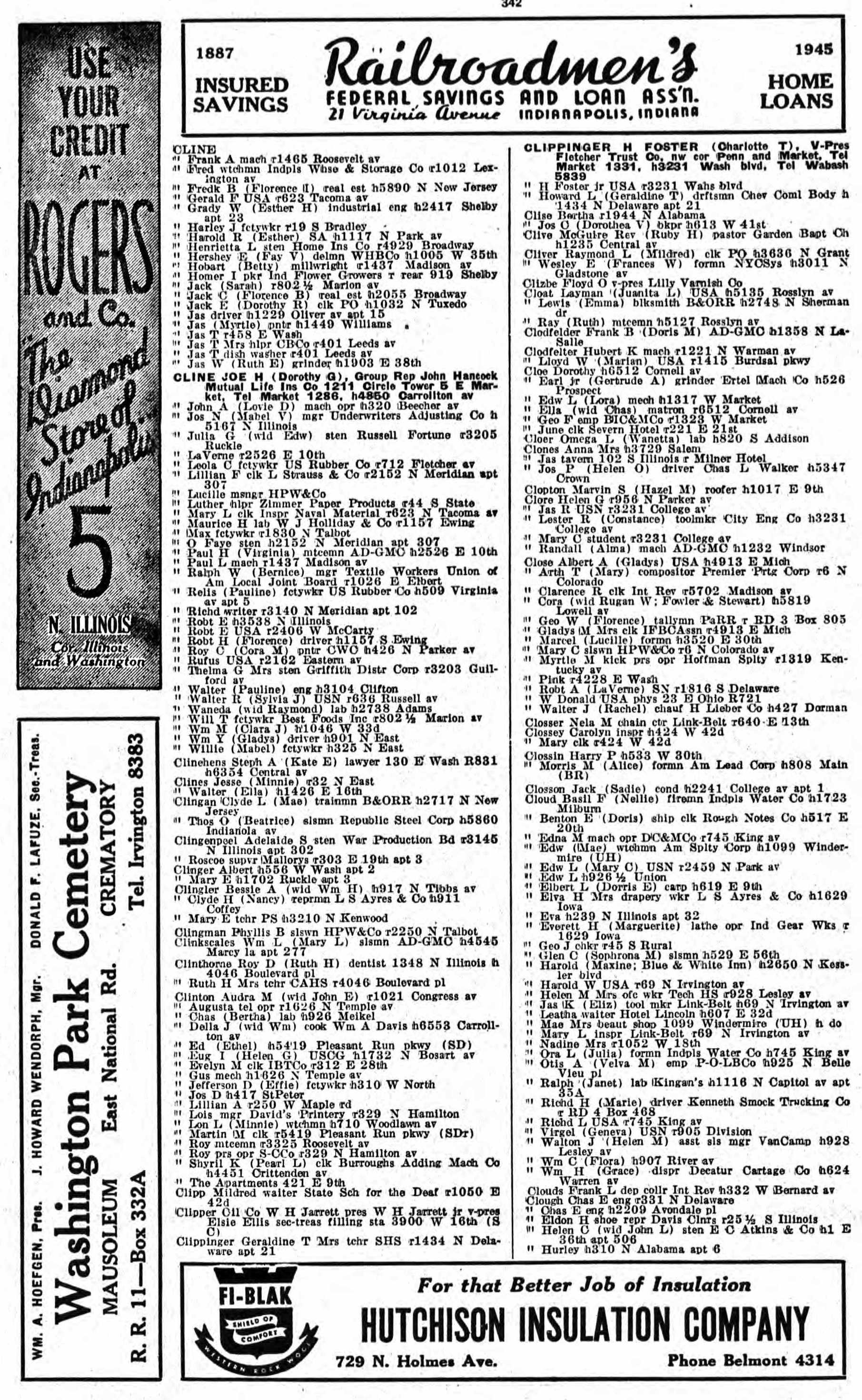 1945 City Directory