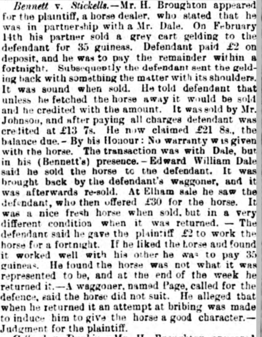Canterbury Journal, Kentish Times and Farmers' Gazette 11 Apr 1891