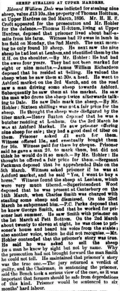 Canterbury Journal, Kentish Times and Farmers' Gazette 11 Apr 1896