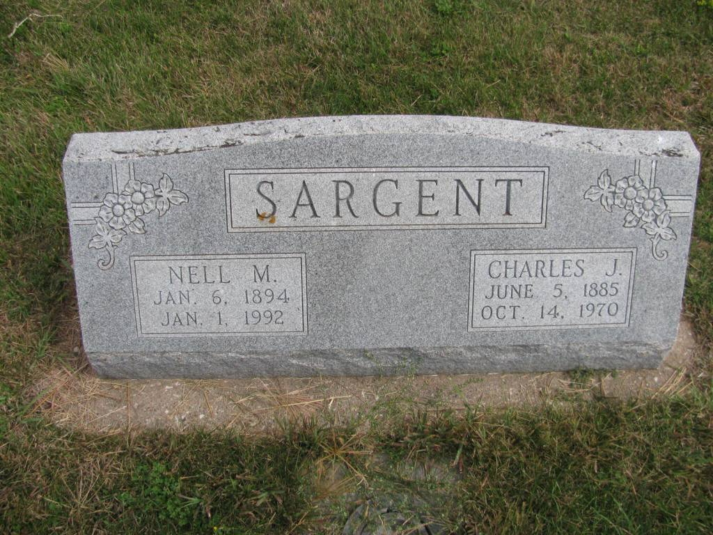 Charles Sargent - Nell Thompson - headstone