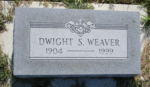Dwight S Weaver - headstone