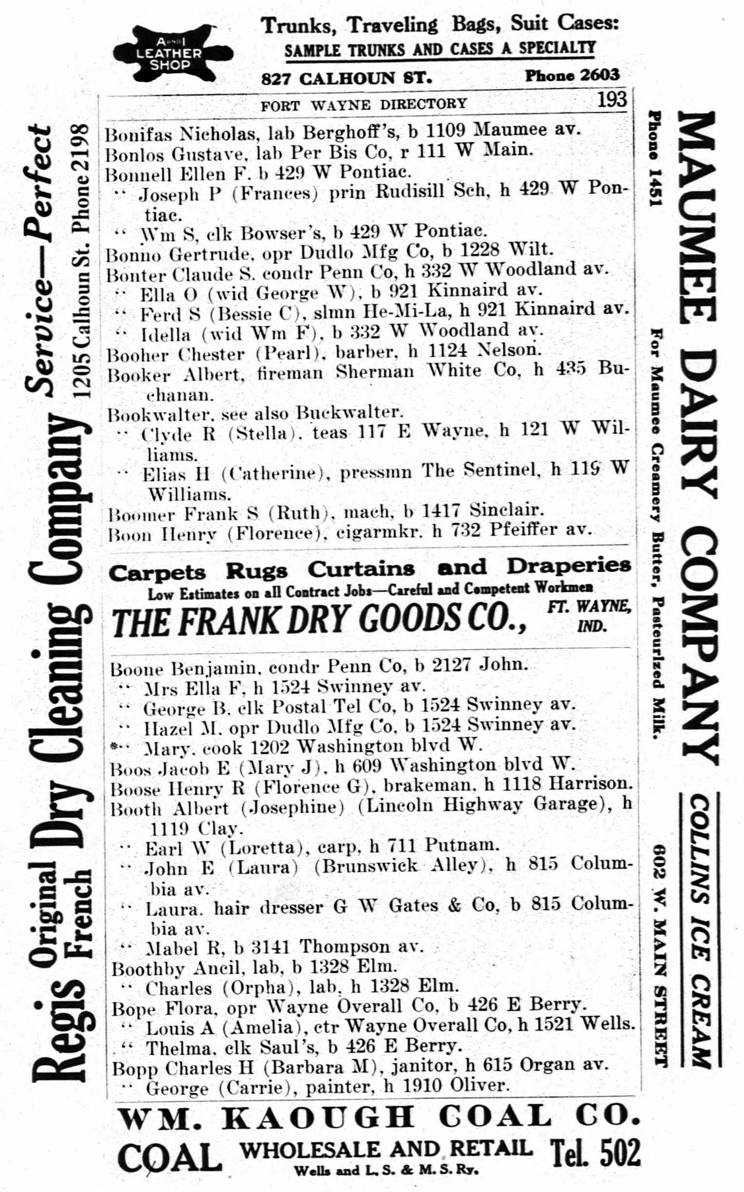 Fort Wayne City Directory - 1915