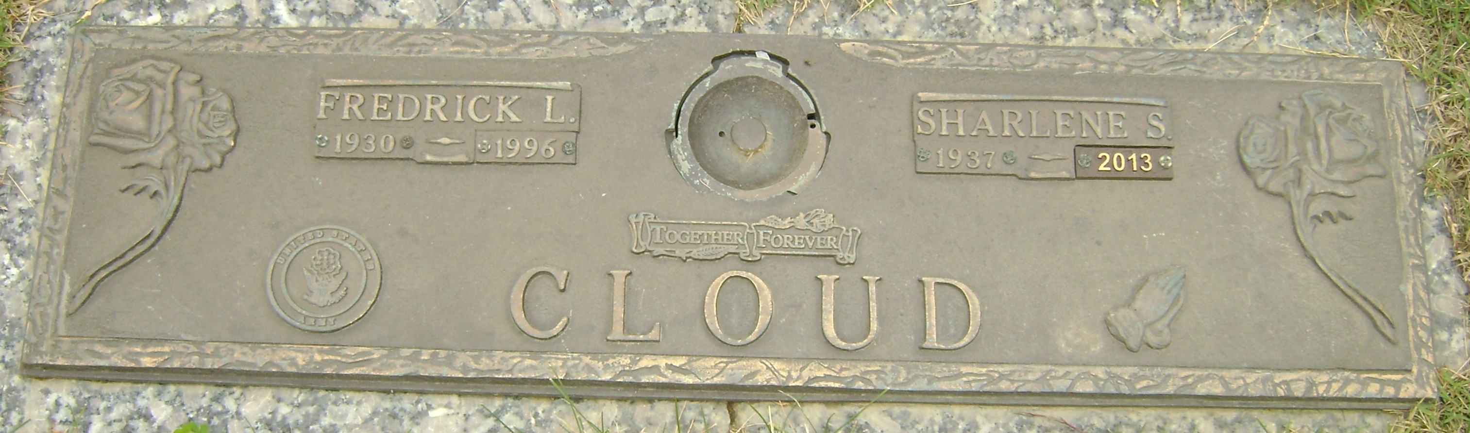 Frederick L Cloud - headstone