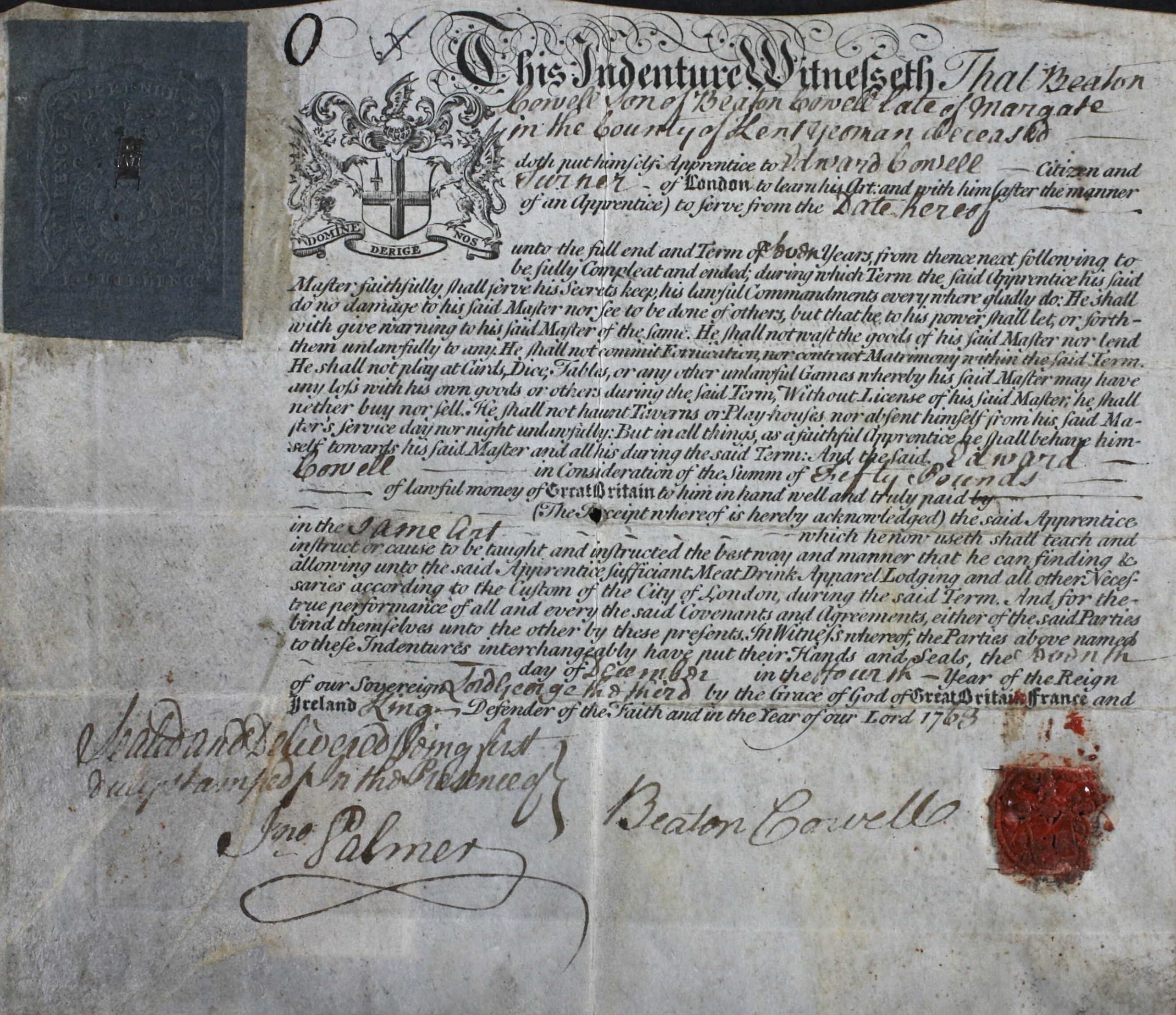 Freedom of the City of London - 7 Dec 1763