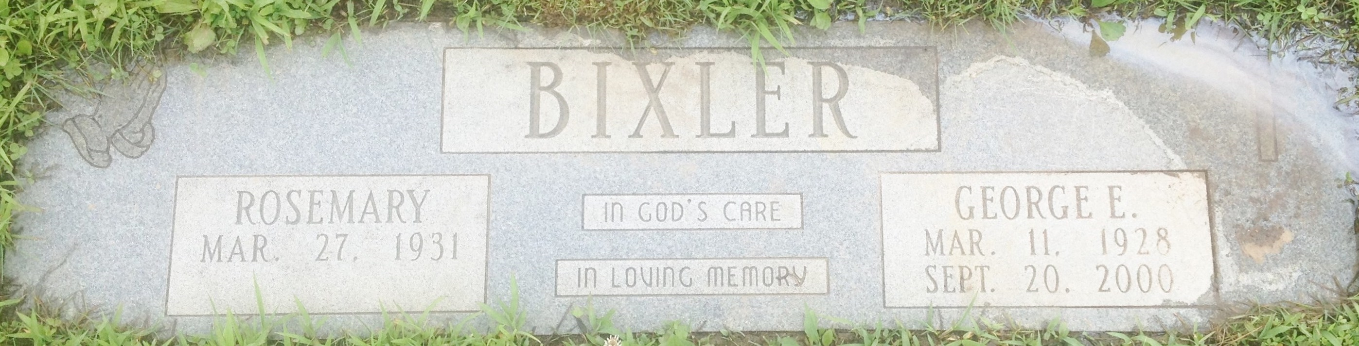 George Bixler - headstone