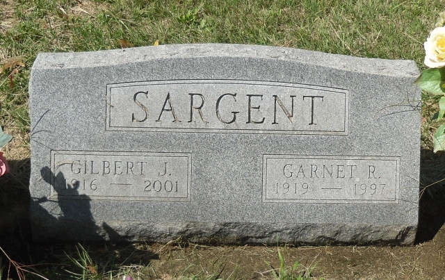 Gilbert Sargent - headstone