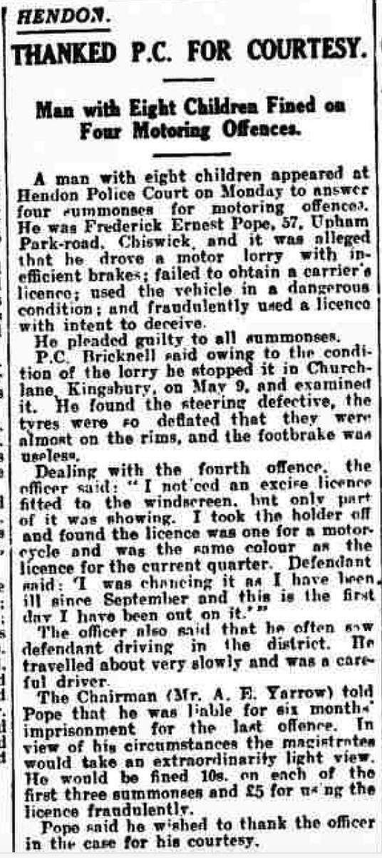 Hendon & Finchley Times July 24, 1936