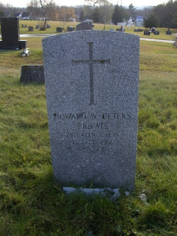 Howard Peters - gravestone