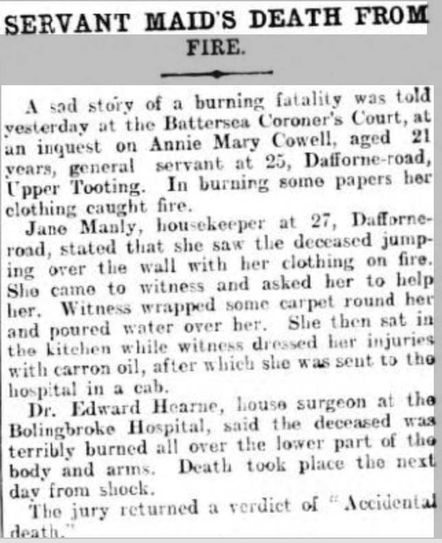 London Daily News 5-1-1904 Annie Mary Cowell