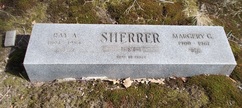 Margery Leader - Ray Sherrer - headstone