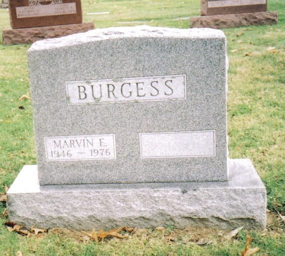 Marvin Eugene Burgess Jr gravestone