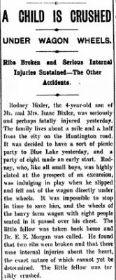 Newspaper clipping - 20 Jun 1898