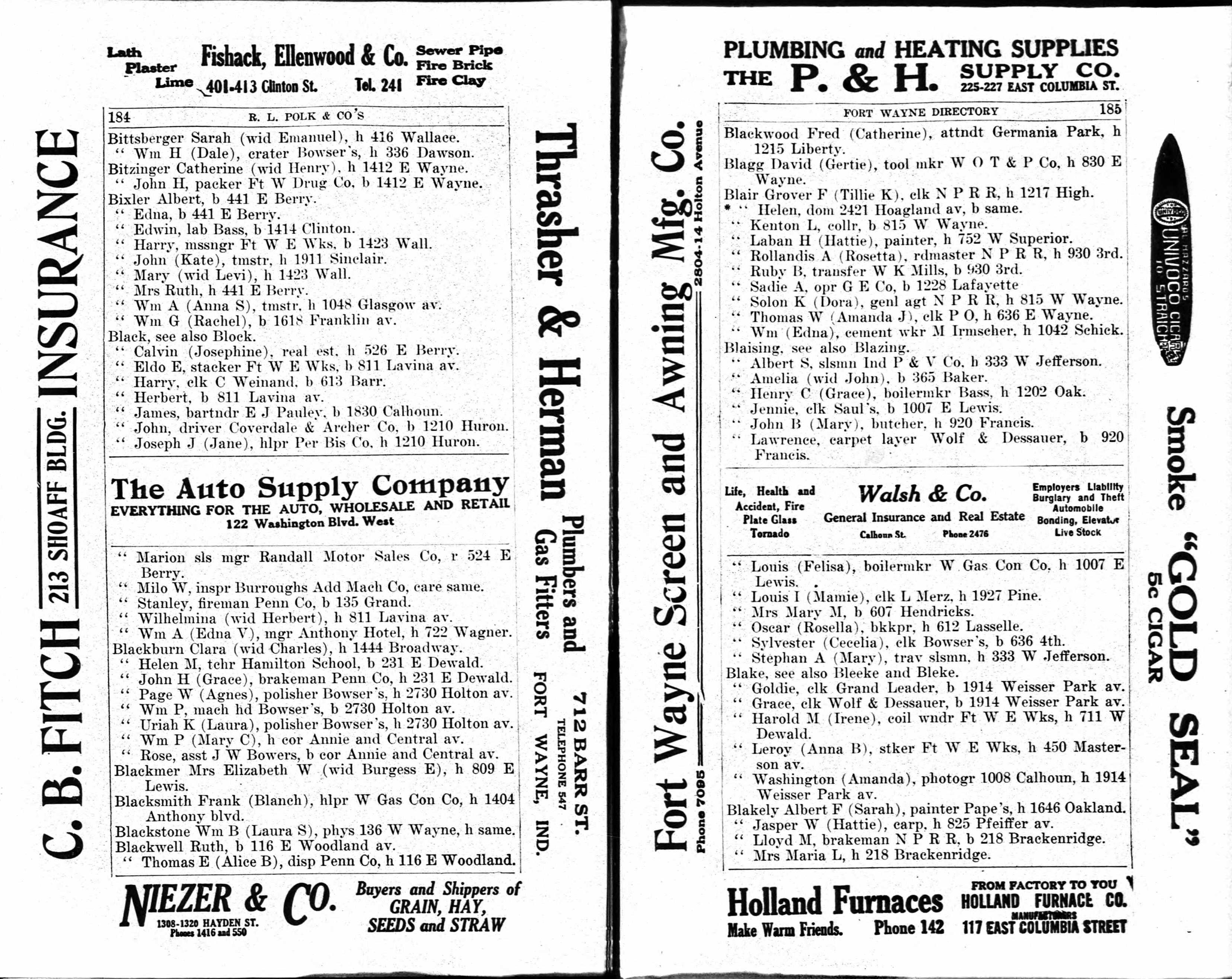 Rachel Sargent - William Bixler - 1914 directory