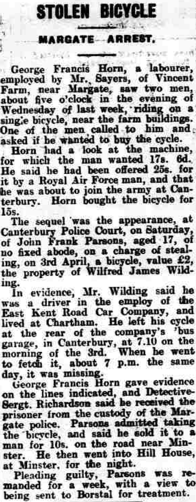 Thanet Advertiser 13 Apr 1928
