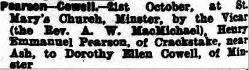 Thanet Advertiser 27 Oct 1939