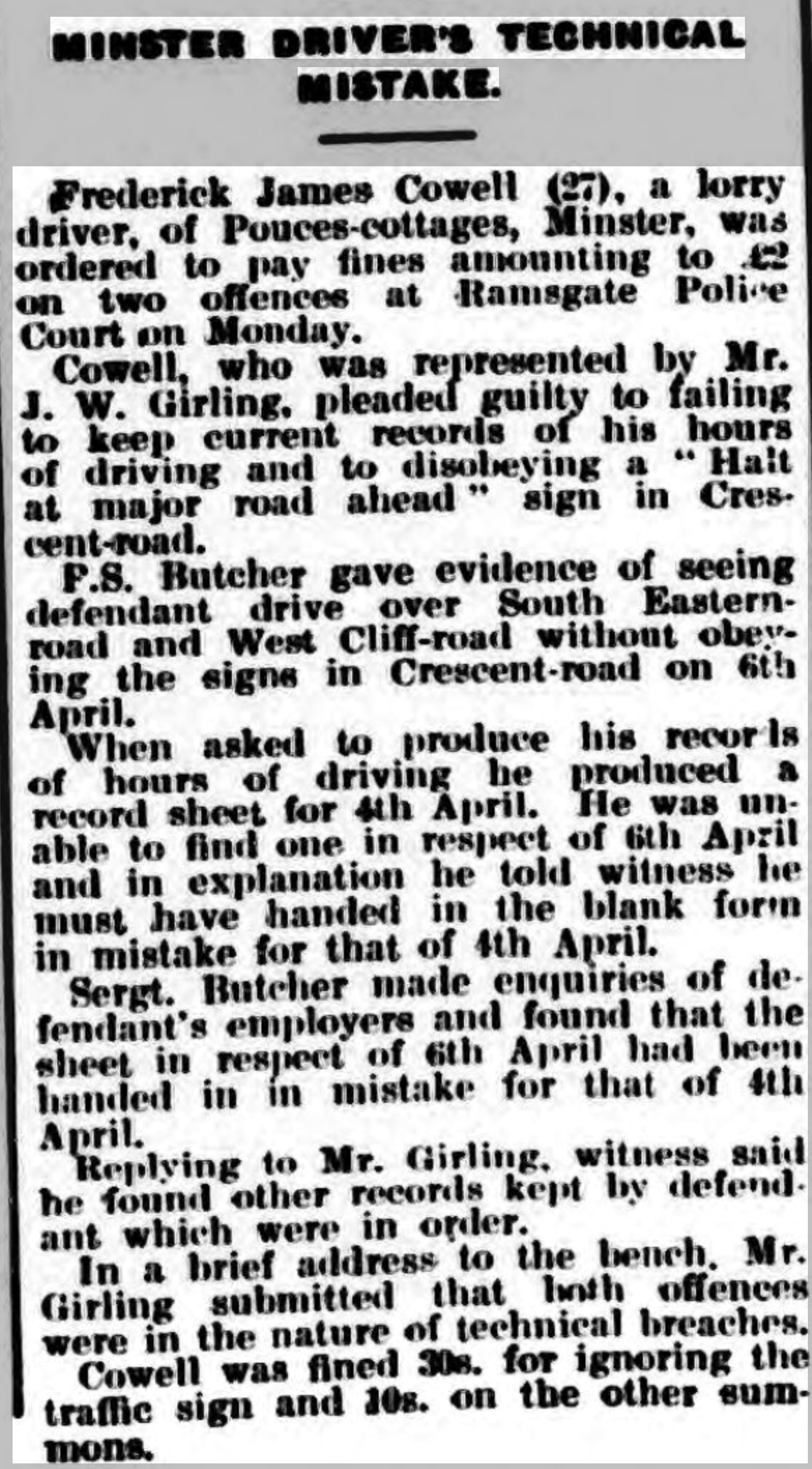 Thanet Advertiser 28 Apr 1936