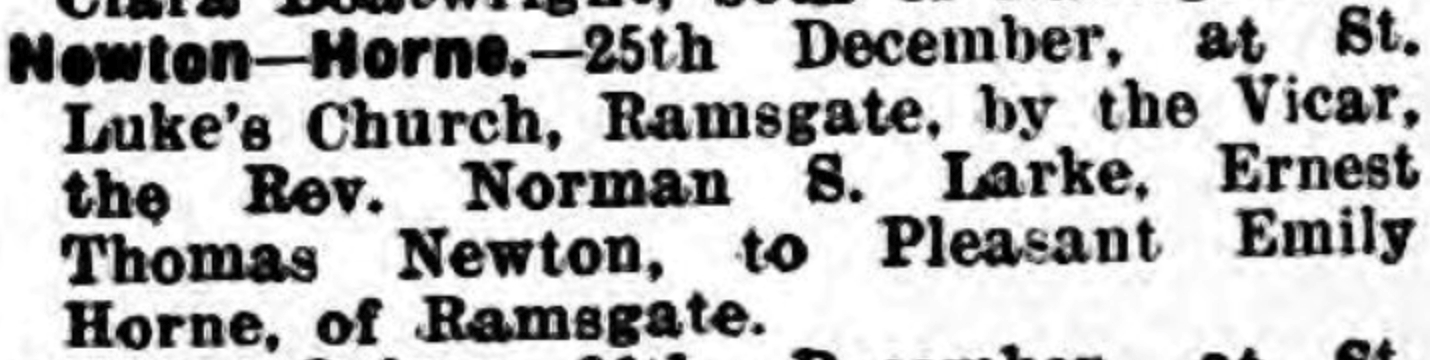 Thanet Advertiser 28 Dec 1929