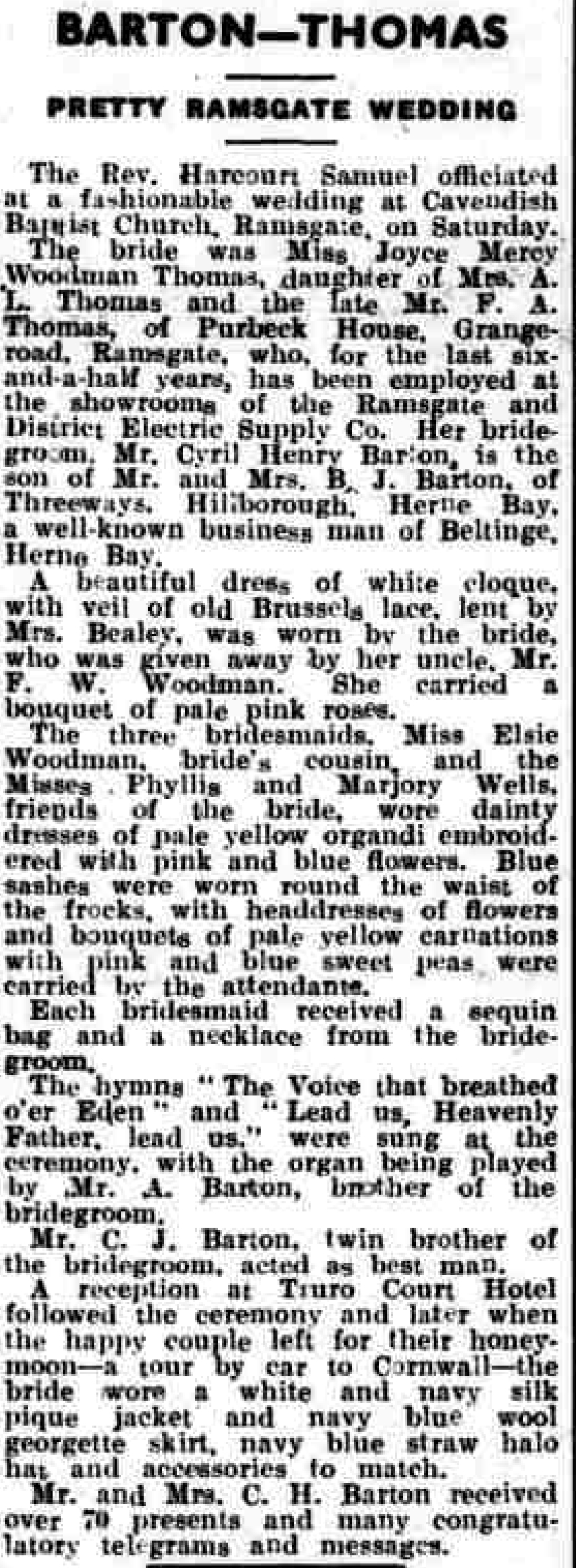 Thanet Advertiser - 29 Jun 1937