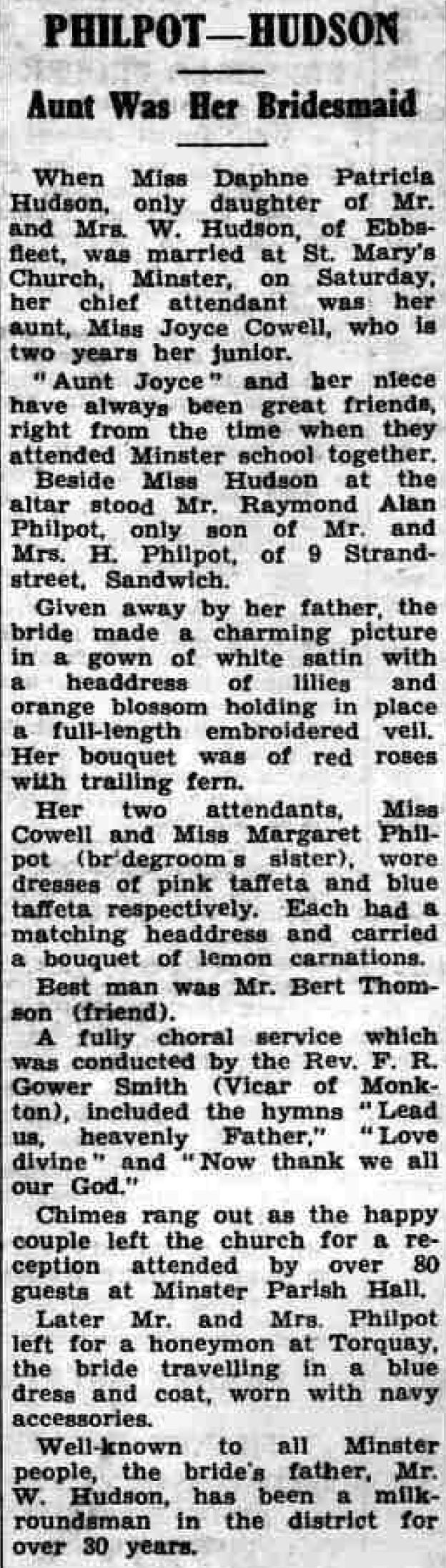 Thanet Advertiser 6 Oct 1950