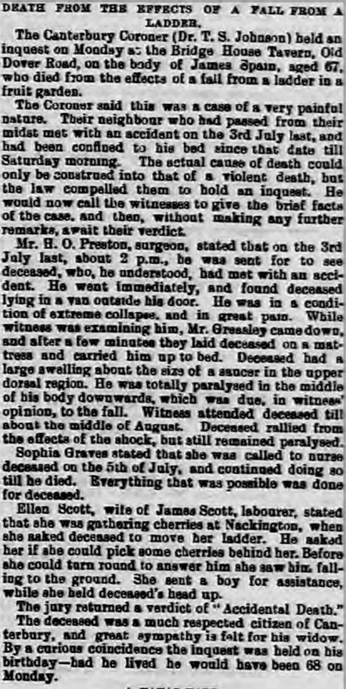 Whitstable Times 30 Nov 1895