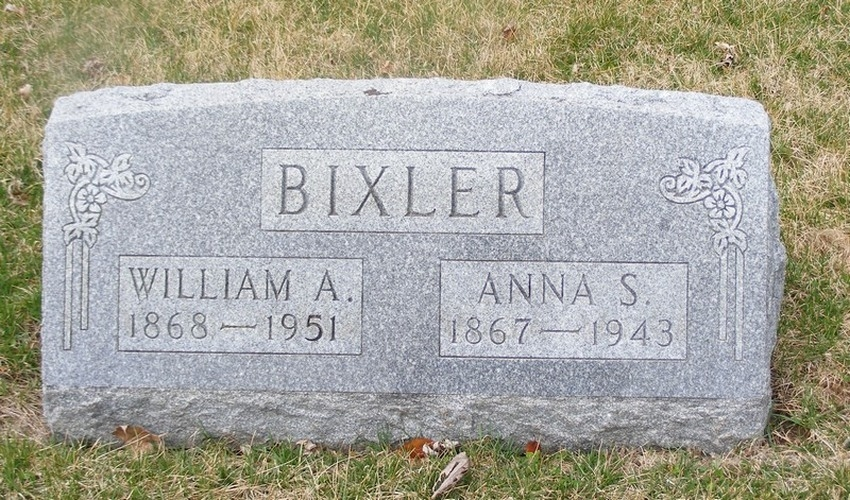 William Bixler - Anna - headstone