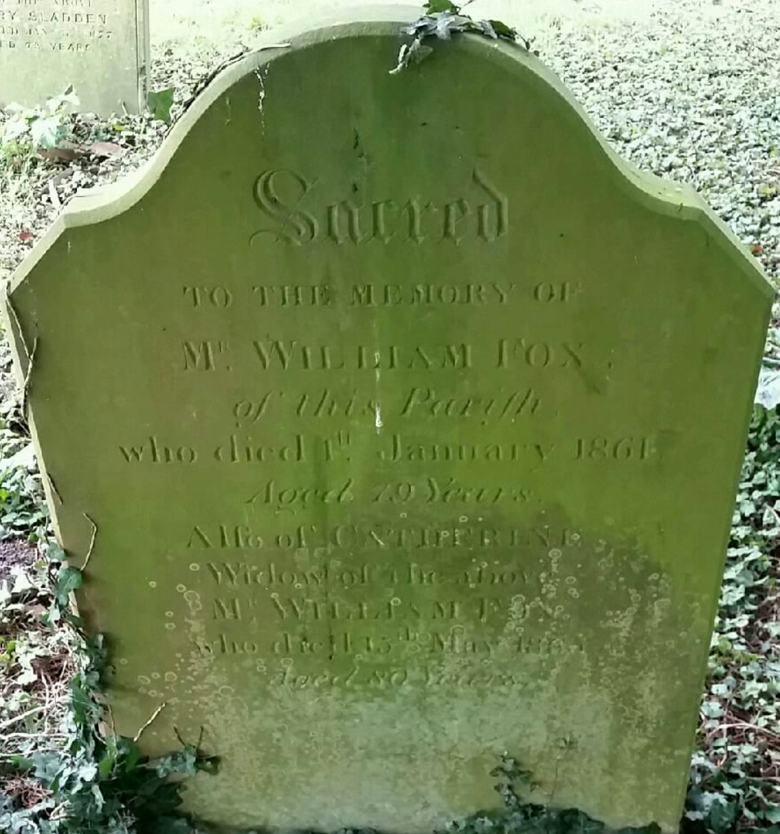 William Fox - Catherine Newport - gravestone