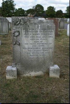 William Standing - Eliza Parr - gravestone