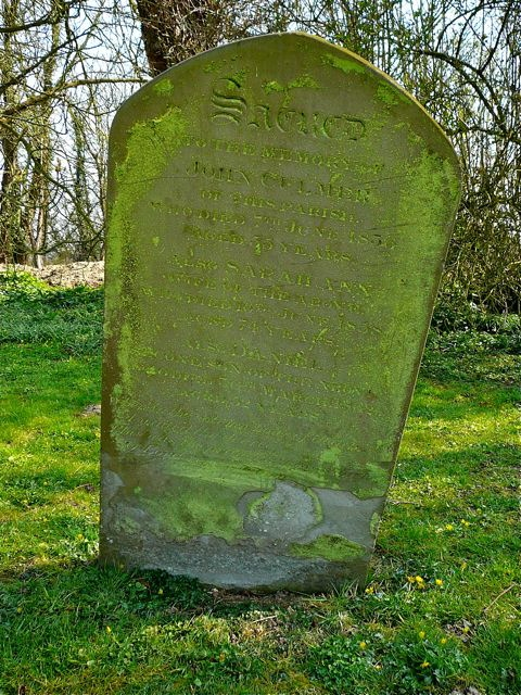 john and daniel culmer - sally hawkes - gravestone